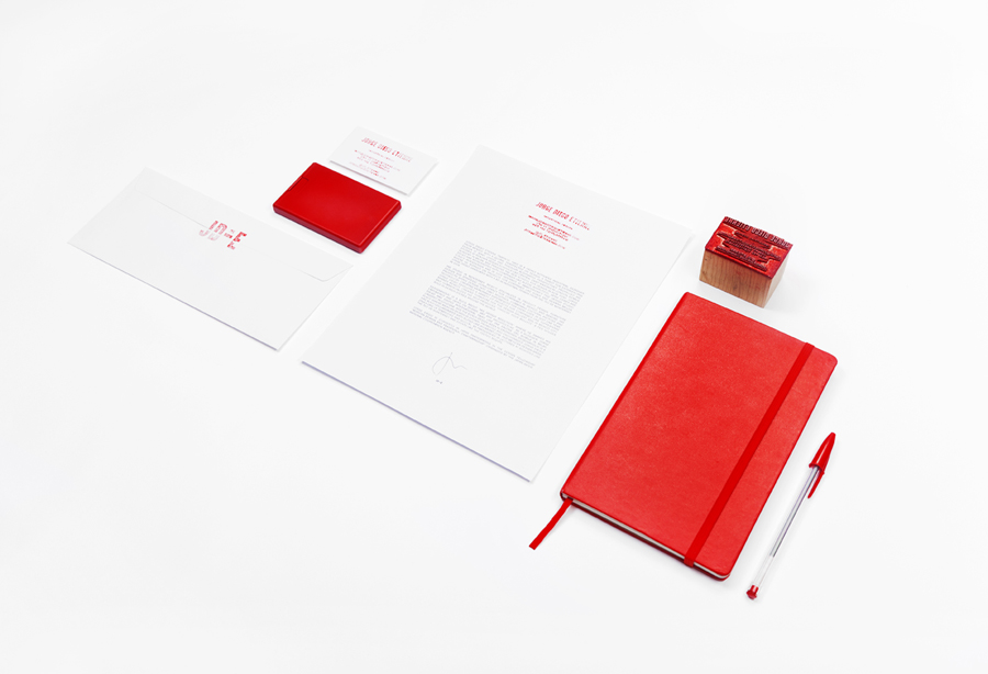 Logo and stationery with stamp detail designed by Savvy for Monterrey based industrial designer and studio Jorge Diego Etienne