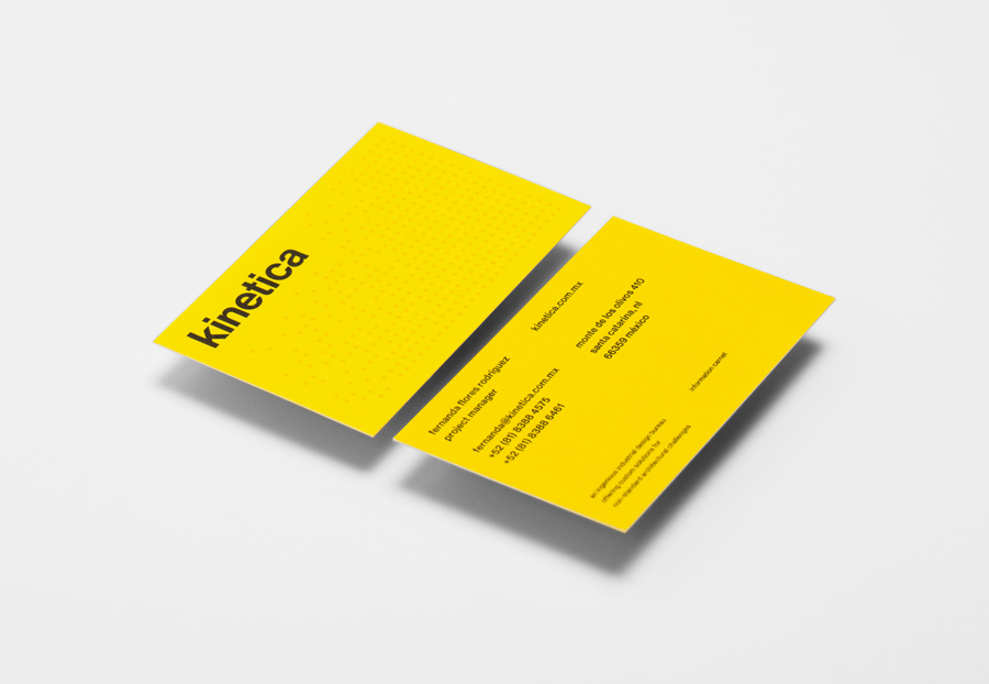 Logotype and business card designed by Face for industrial design studio Kinetica