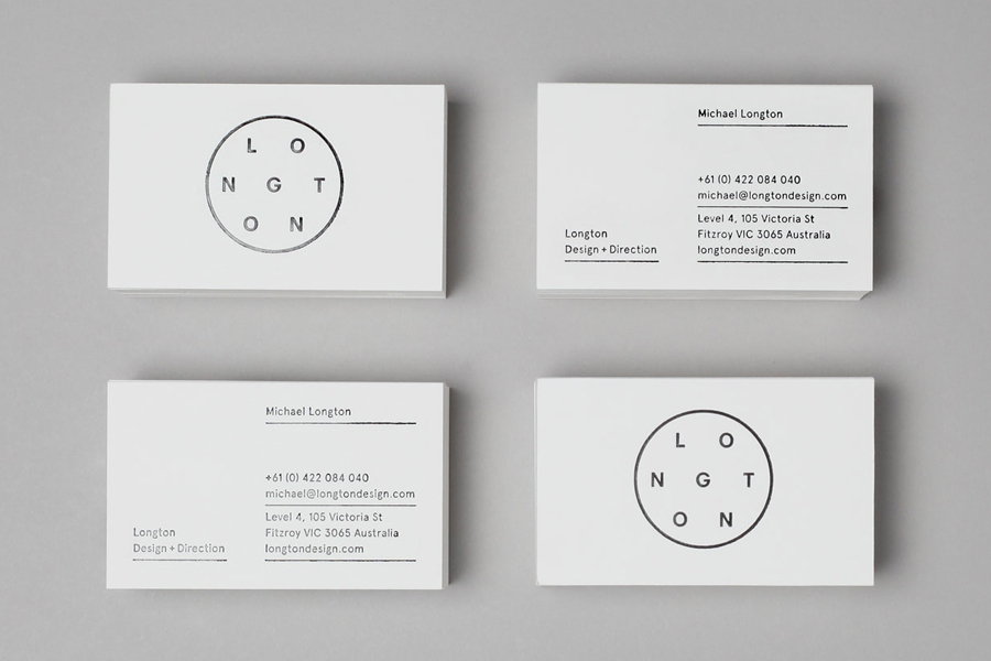 Logo and black block foil business card design by Longton