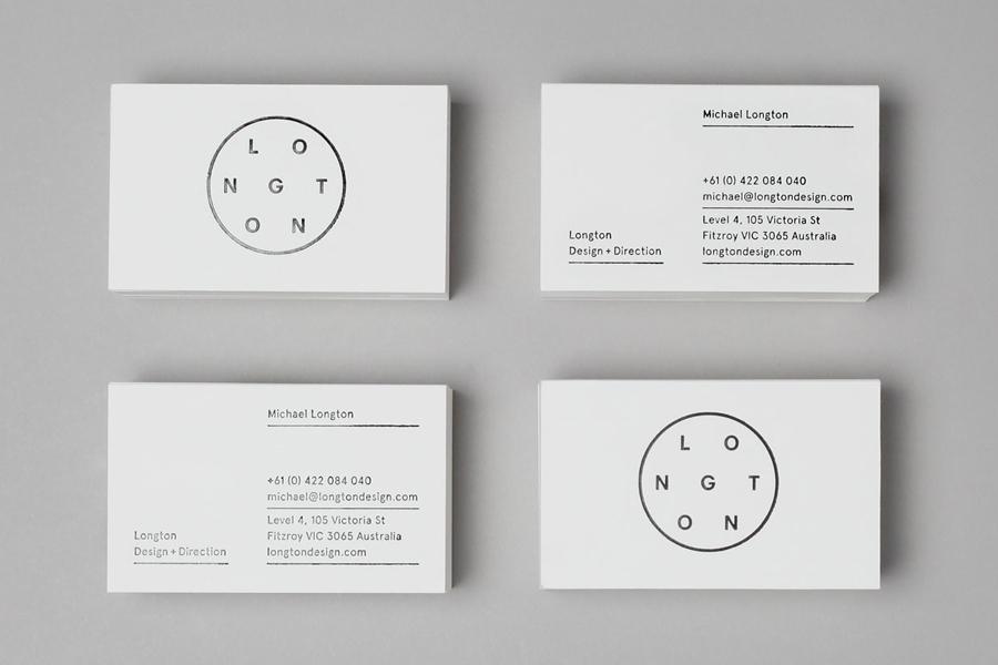Logo and black block foil business card design by Longton