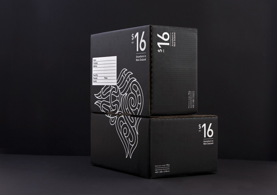 Packaging for New Zealand Post's Simplified Sending service designed by Designworks