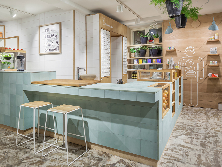 Interior design by Bond for Finnish health store PÜR