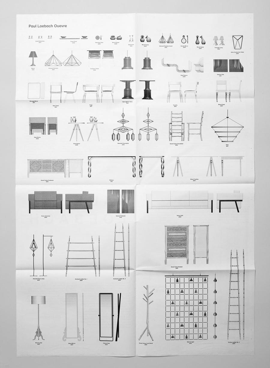 Logo and print for three dimensional designer Paul Loebach created by Studio Lin