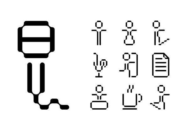 Iconography designed by Pentagram for not-for-profit, technology and entrepreneurship organisation Platform