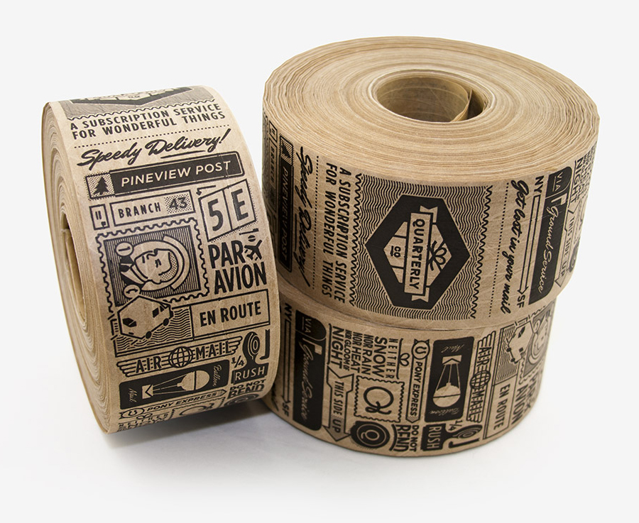Branding and packaging designed by Oak for Quarterly Co.