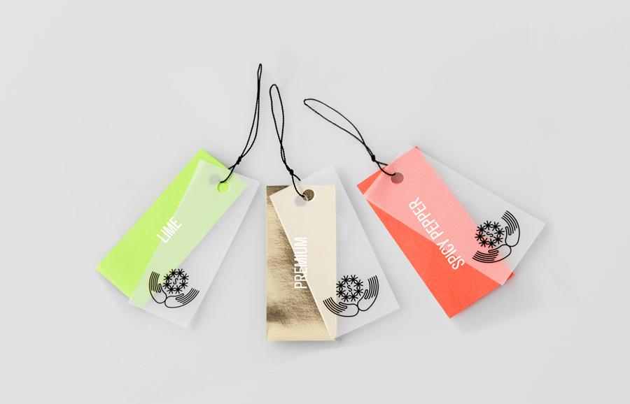 Brand identity and tags by Anagrama for Latin American premium goods exporter Salvatierra
