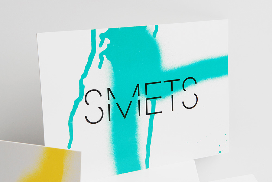 Logotype and print with spray paint detail designed by Coast for Brussels based luxury department store Smets