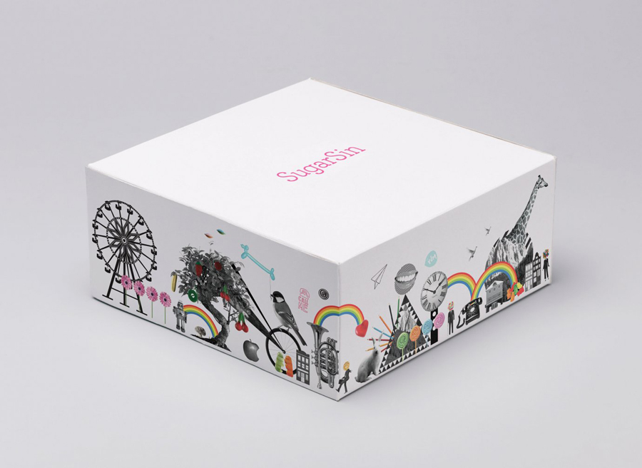 Logotype and packaging designed by &Smith for confectionery shop SugarSin