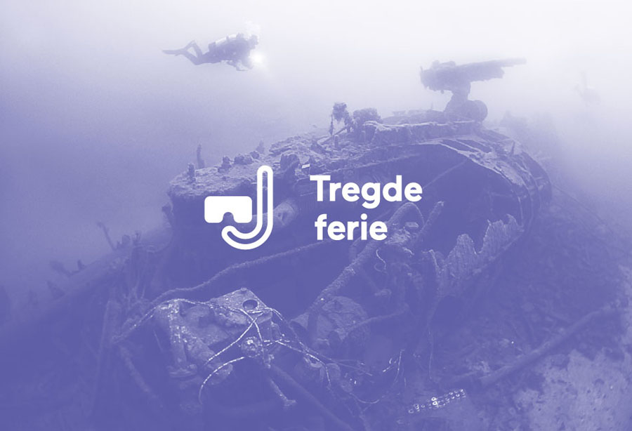 Logo and tinted photography created by Neue for Norwegian coastal holiday resort Tregde Ferie