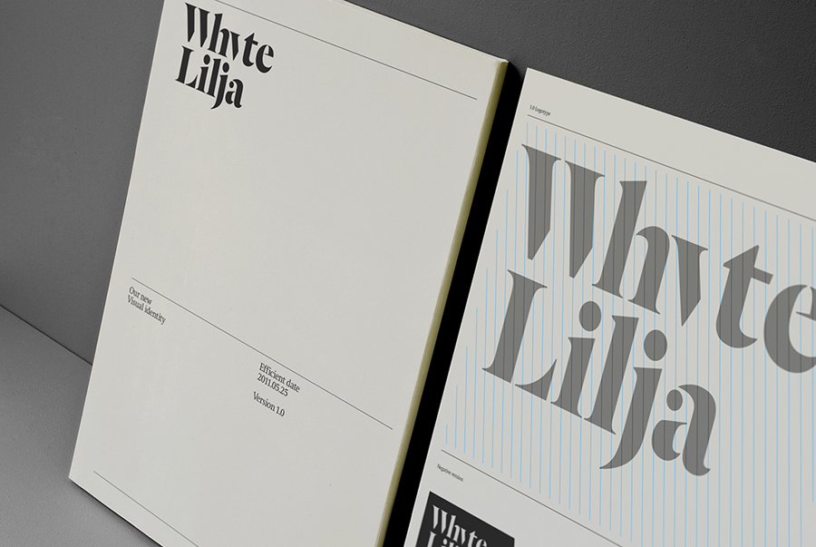 Logo and print designed by Kurppa Hosk for Swedish architectural firm Whyte Lilja