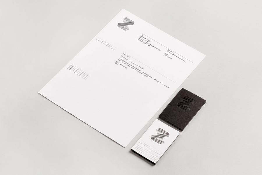Logo, letterhead and duplex business card with foil detail for web developer Zann St Pierre created by ThoughtAssembly