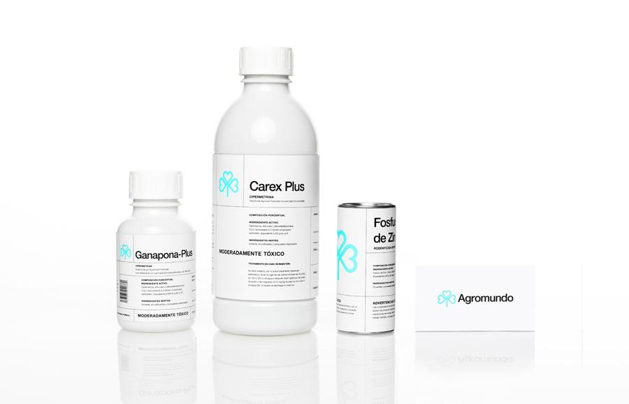 Packaging for pesticide retailer and manufacturer Argromundo designed by Anagrama