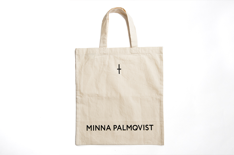 Logotype, mark and tote tag designed by Bedow for fashion designer and label Minna Palmqvist
