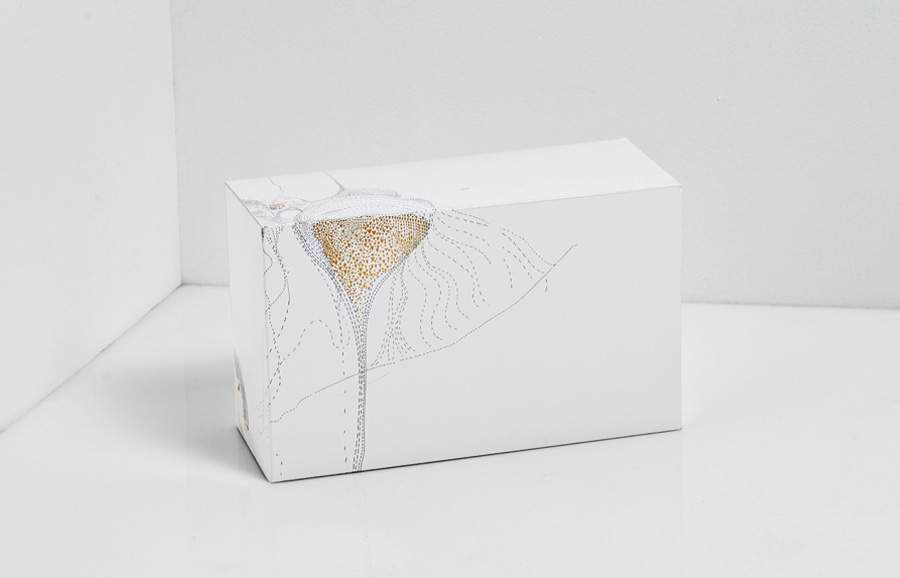 Packaging with gold foil detail designed by Anagrama for San Pedro pastry shop Catalina Fernandez