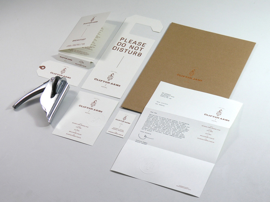 New Logo and Brand Identity for Clifton Arms by Wash - BP&O