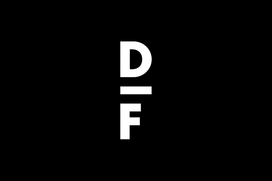 Monogram designed by Spin for creative exchange and artistic development network Delfina Foundation
