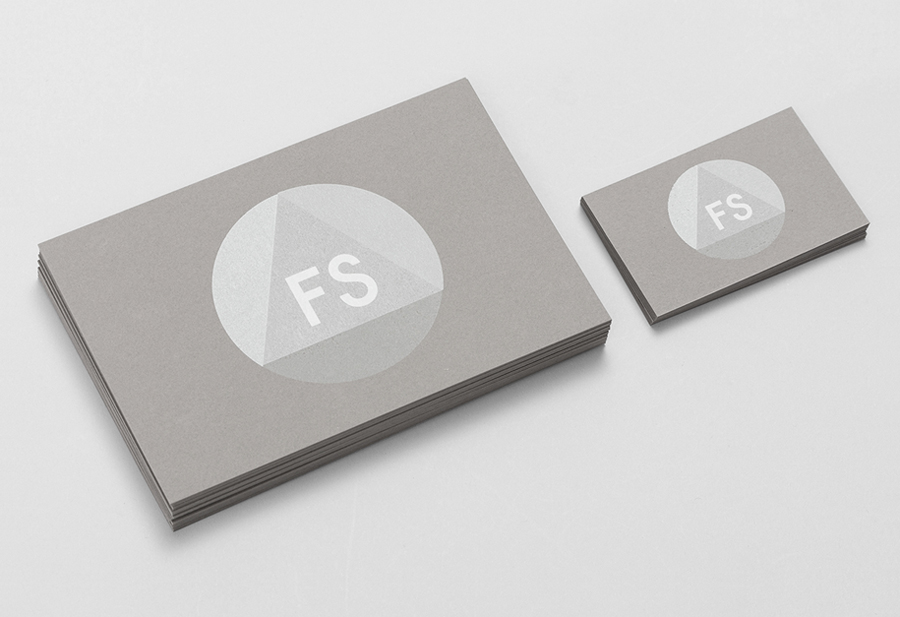 Logo and screen printed business card for industrial design studio Fort Standard designed by Studio Lin