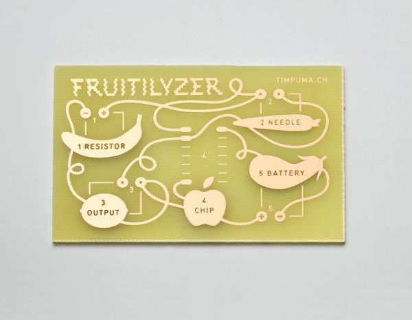 Fruit and vegetable based electronic music making kit Fruitilyzer