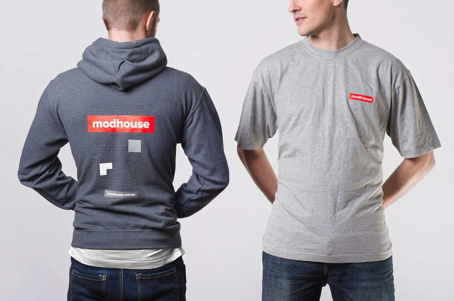 Logo and T-shirt designed by A Friend Of Mine for Australian design and building firm Modhouse