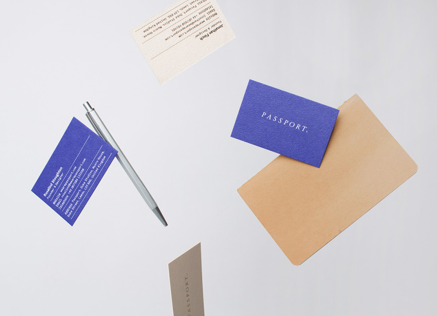 Colorplan business cards for Leeds based design studio Passport