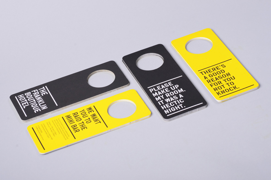 Logo and door hangers designed by Band