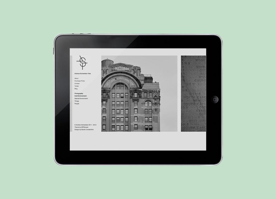 Logo and website designed by Studio Constantine for Andrew Schweitzer Foto