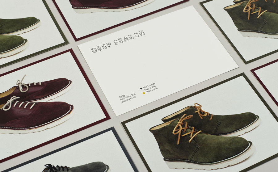 Print by Bielke+Yang for Norwegian shoe brand Deep Search