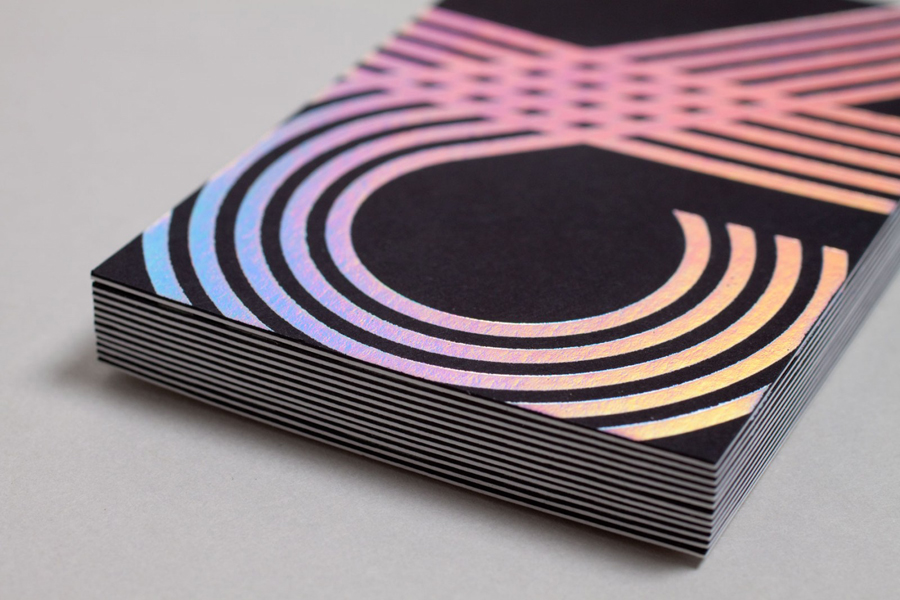 New brand identity for chris allen by build bpo duplex business card with holographic foil print finish by build for chris allen reheart Images