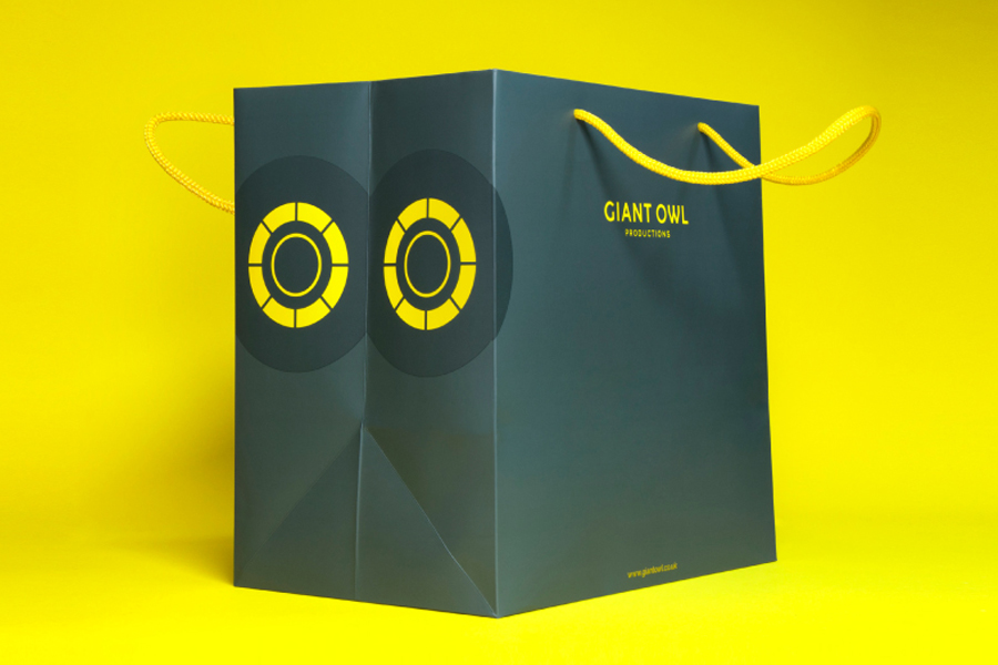 Logo and bag by Alphabetical for independent production company Giant Owl