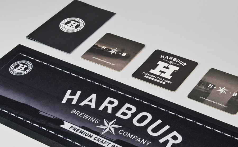 Bar side print designed by A-Side Studio for Harbour Brewing Co.