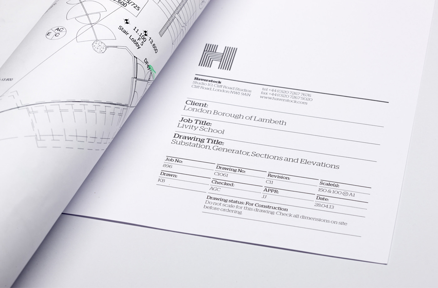 Logo design by Spy for architecture firm Haverstock