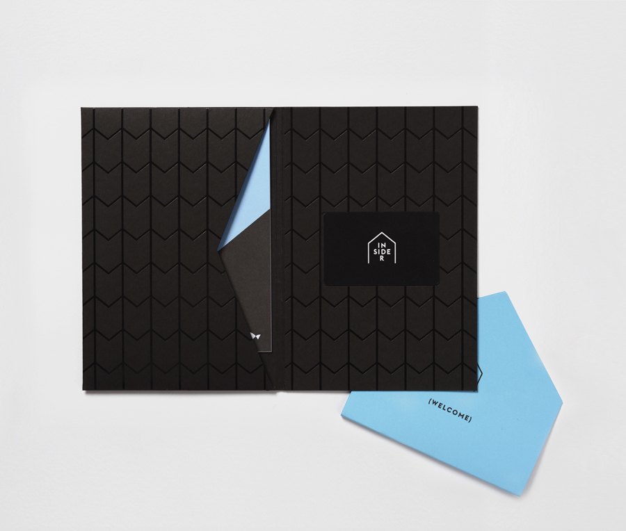 Logo and brochure designed by Naughtyfish for Sydney Opera House's membership program Insiders
