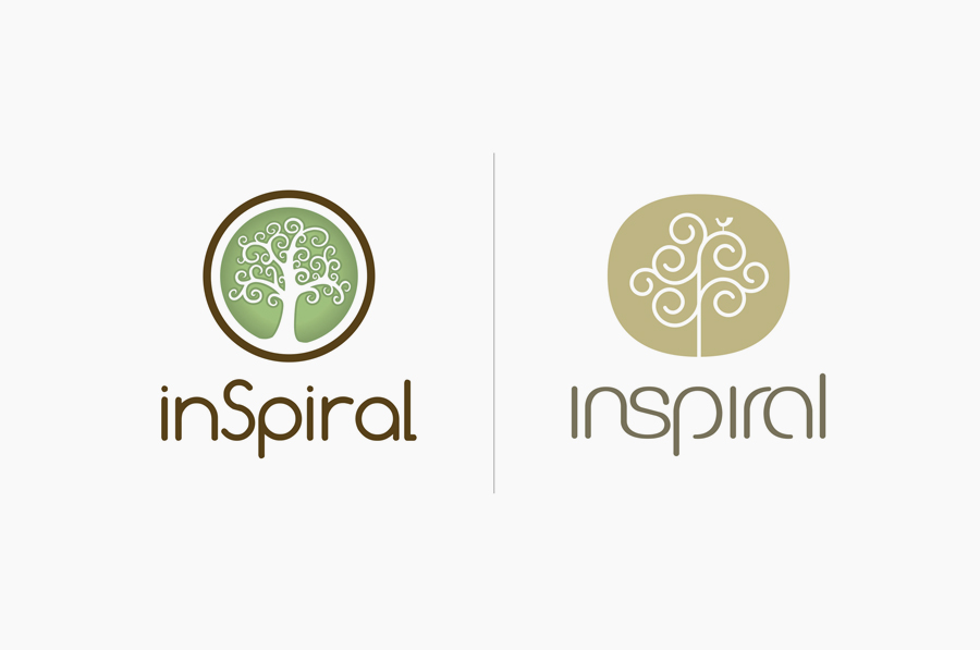 Brand identity designed by Stduio h for organic raw food company Inspiral