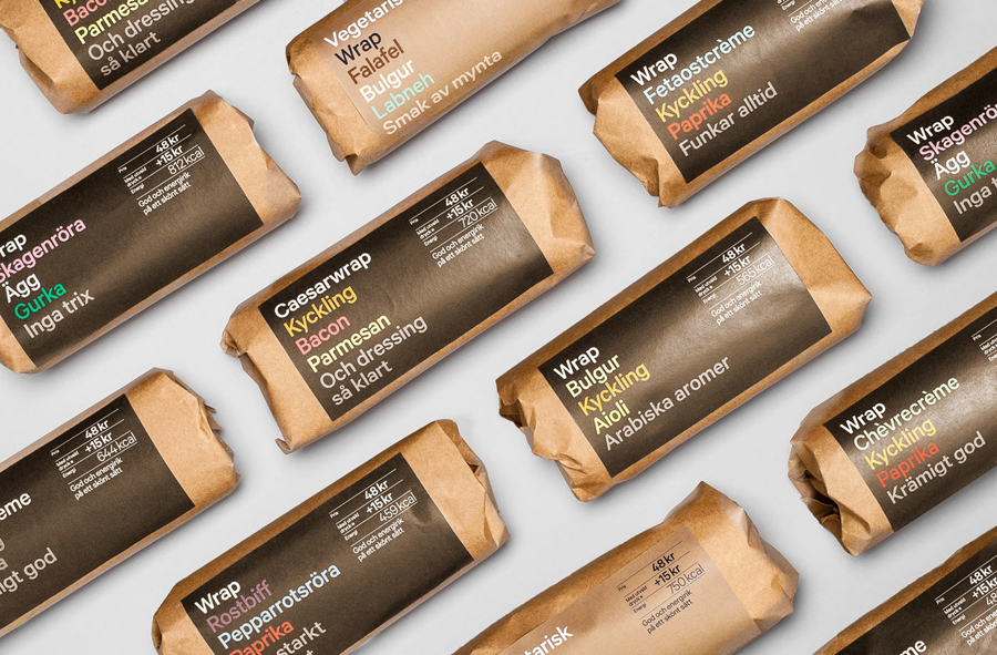 Wrap packaging designed by BVD for 7-Eleven Sweden