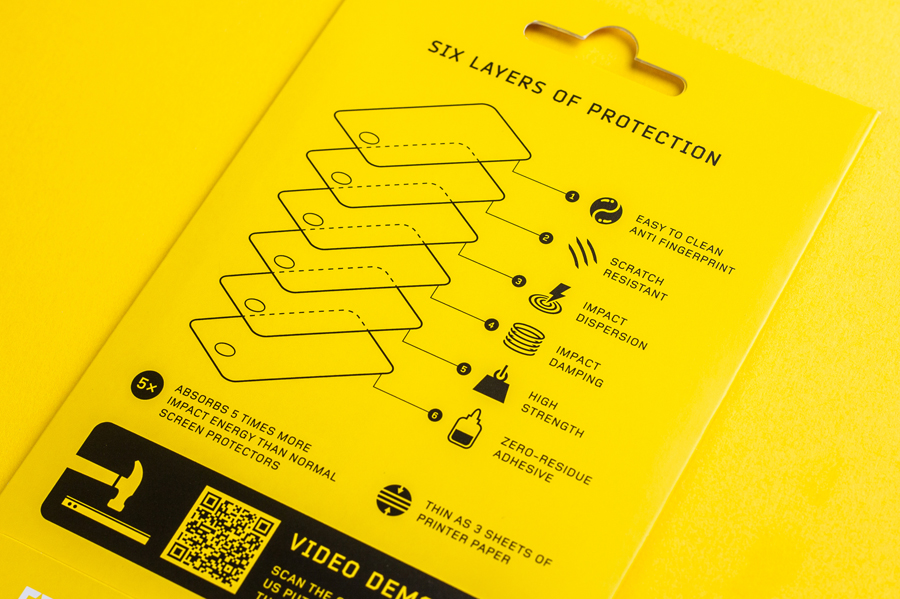 Iconography by Bravo Company for high impact screen protector Rhinoshield