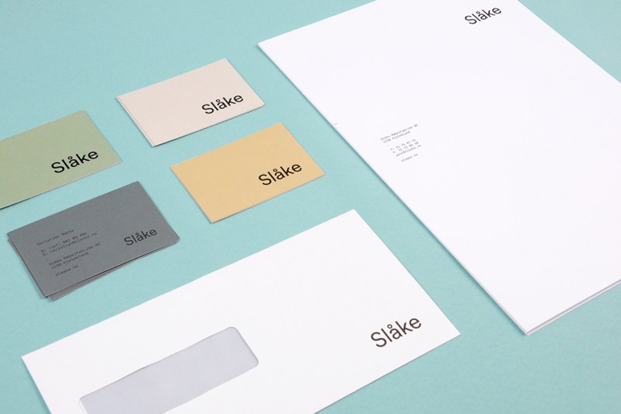 Stationery for Slåke Møbelfabrikk designed by Ghost