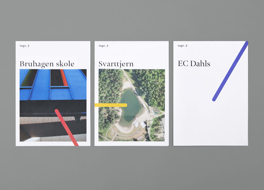 Logo and brochure design by Neue for Norwegian architecture studio Tegn_3