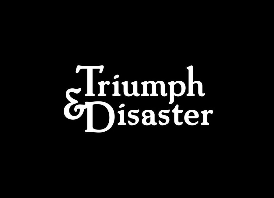 Logo for male skincare and accessory range Triumph & Disaster designed by DDMMYY