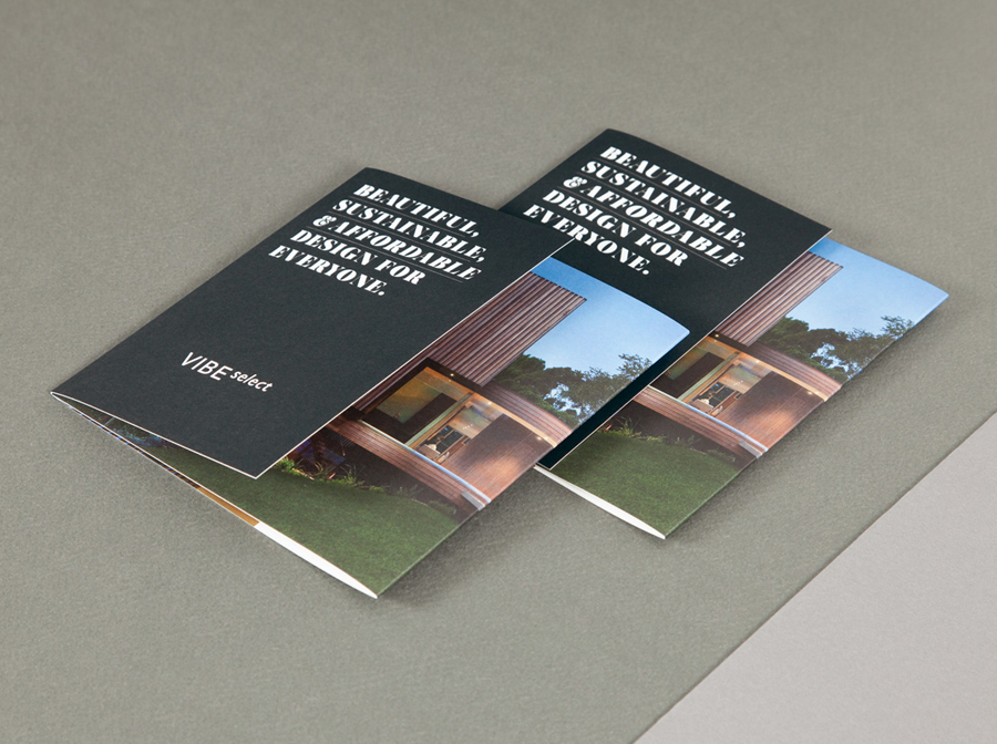 Brochure for architectural firm Vibe Select designed by Studio Constantine