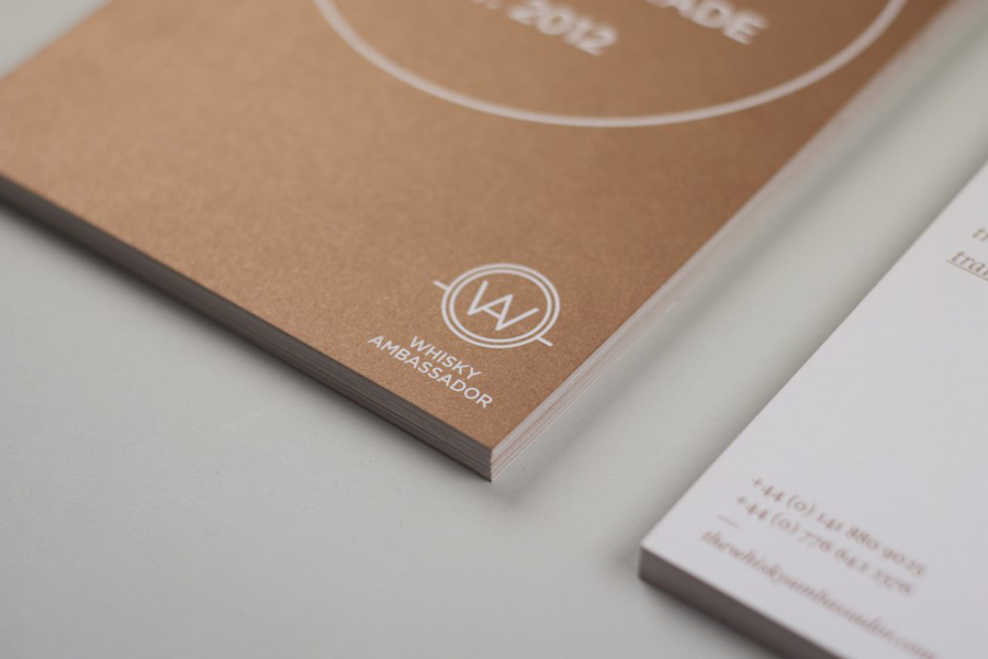 Logo and print with copper print detail designed by O Street for Whisky Ambassador