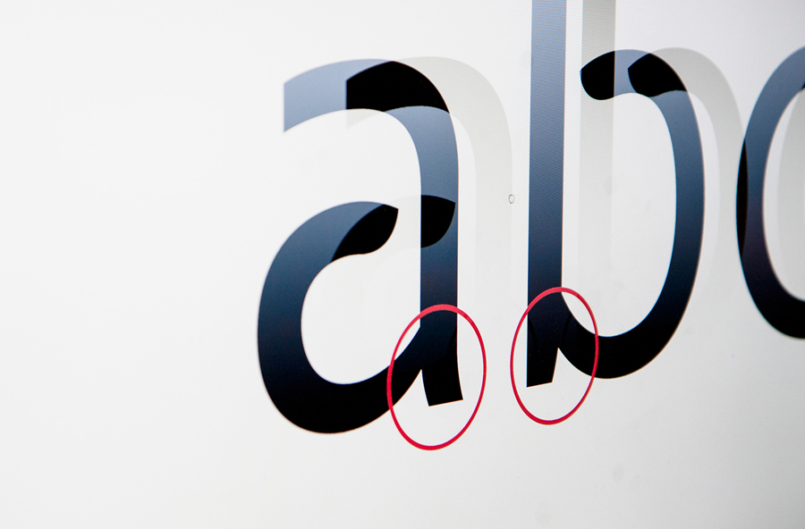Bespoke typography designed by Mission for local bank alliance Eika