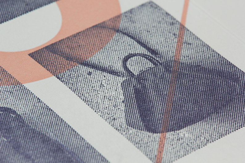 Logo and print with half-tone tinted image detail designed by Blok for luxury bag, clothing and accessories brand Hoi Bo