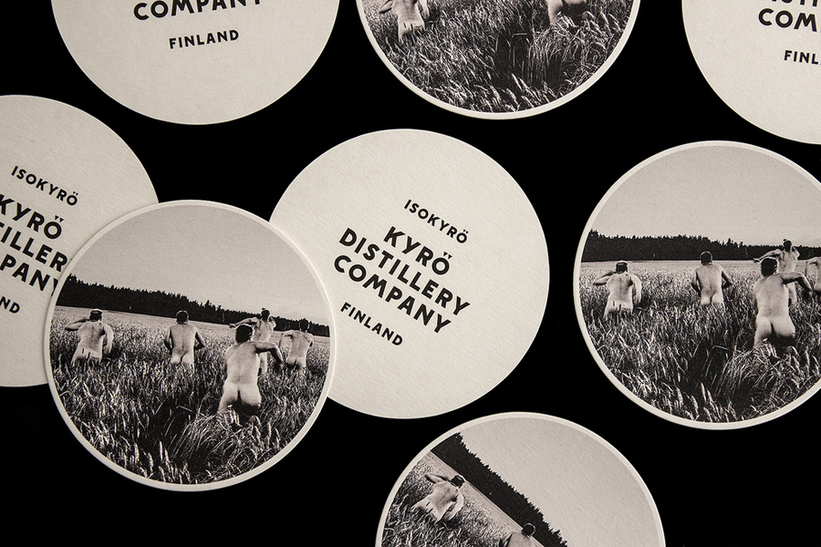 Coasters designed by Werklig for Kyrö Distillery Company