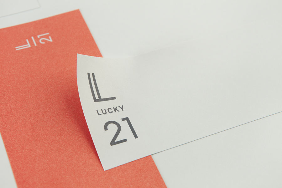 Print designed by Blok for Dallas and LA film production company Lucky 21.