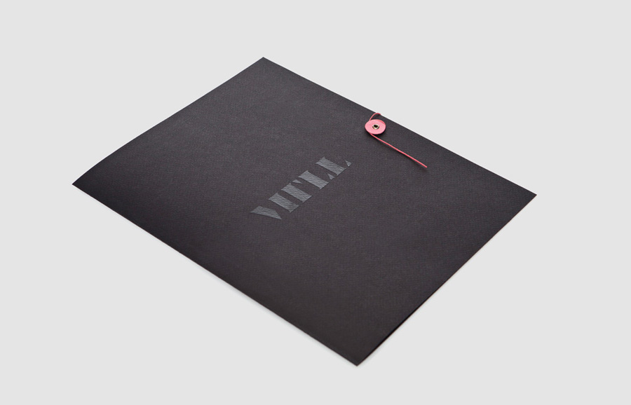Logo and folder with thermographic ink detail designed by Anagrama for architecture and landscaping firm MTLL
