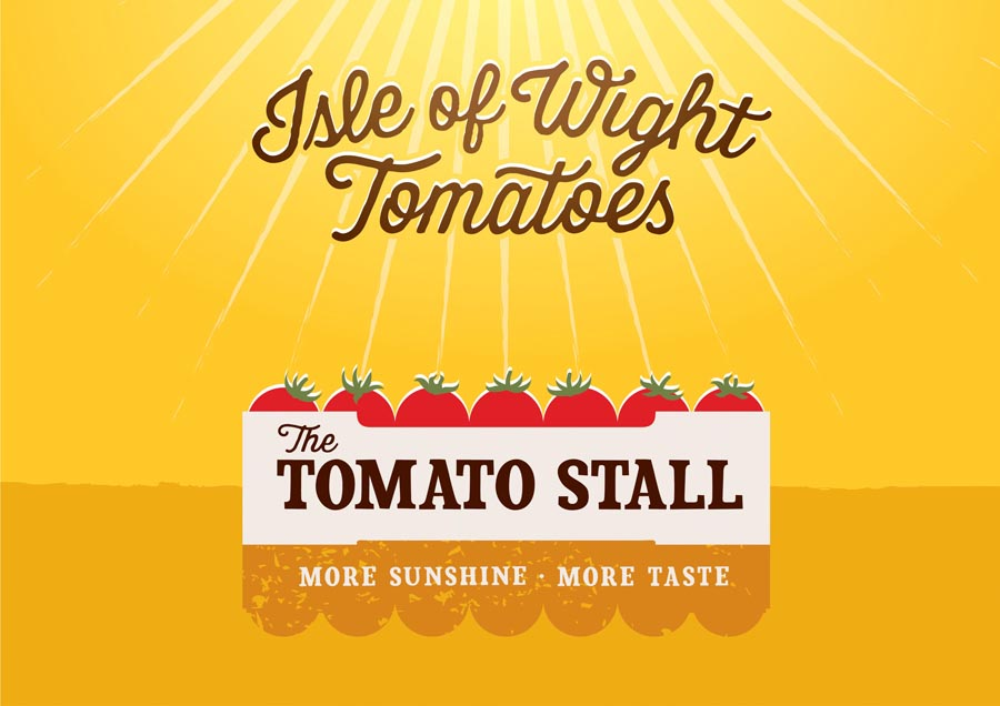 Visual identity by Designers Anonymous for speciality tomato grower and artisan tomato product producer The Tomato Stall