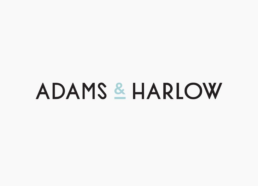 Sans-serif logotype created by Designers Anonymous for Lincolnshire made pork pie brand Adams & Harlow