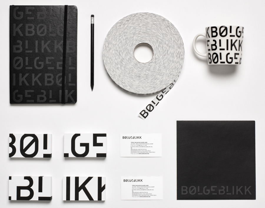 Logotype and stationery designed by Tank for architecture firm Bølgeblikk