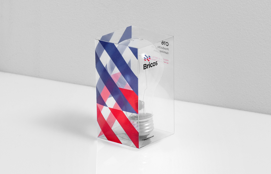 Lightbulb packaging designed by Anagrama for Mexican electrical hardware store Bricos