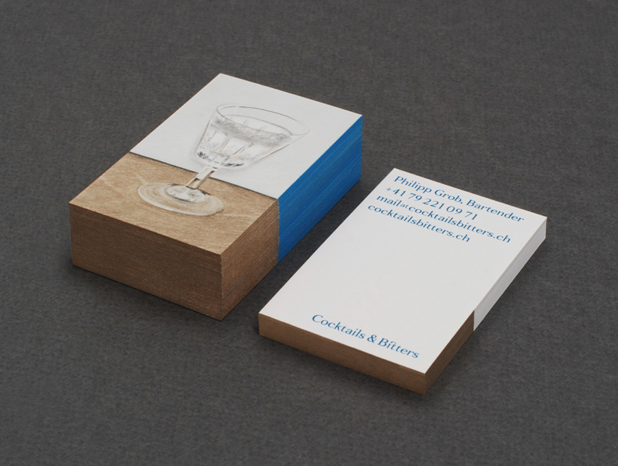 Logo and business card design by Bureau Collective for Swiss bartender Philipp Grob